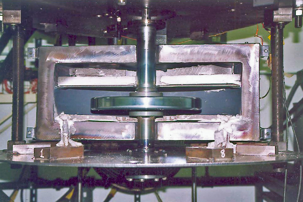 High Temperature Spin Testing of a Superalloy Disk With a Dual Grain Structure